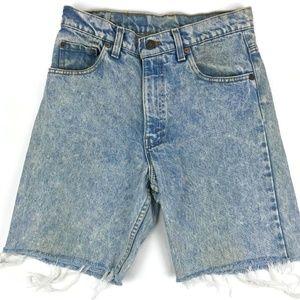 Vintage Levi's 550 Acid Wash Jean Shorts Size 29